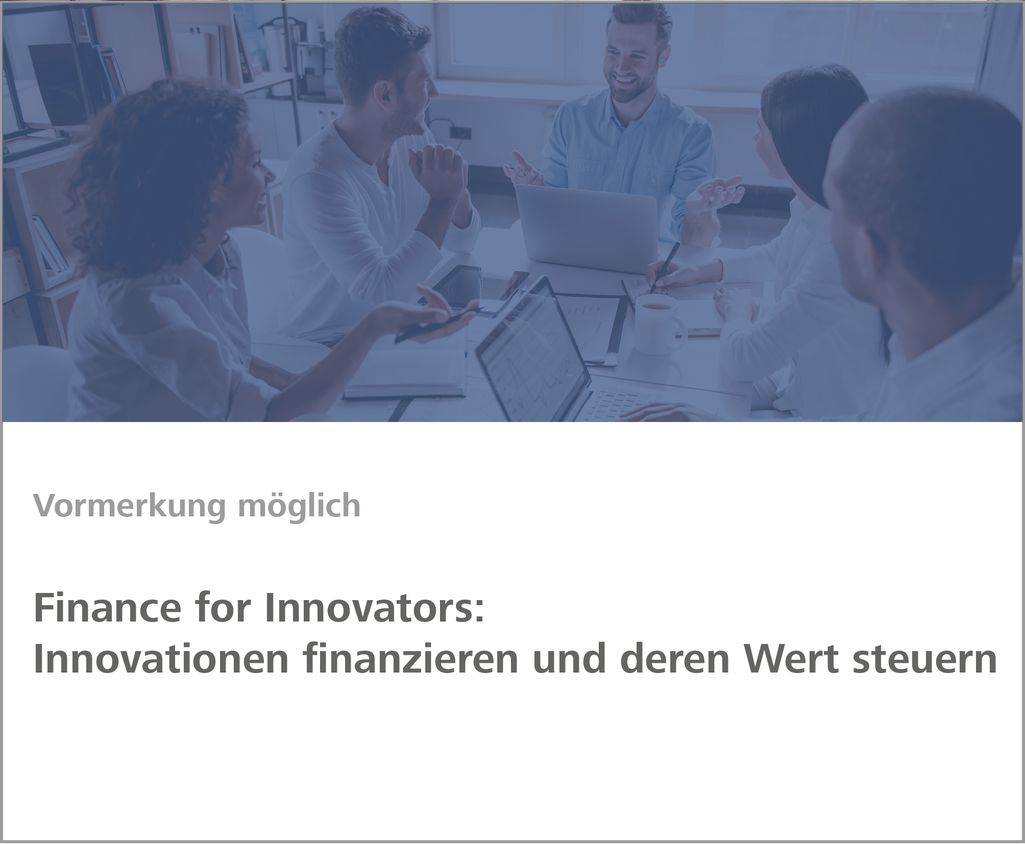 Weiterbildung Finance for Innovators