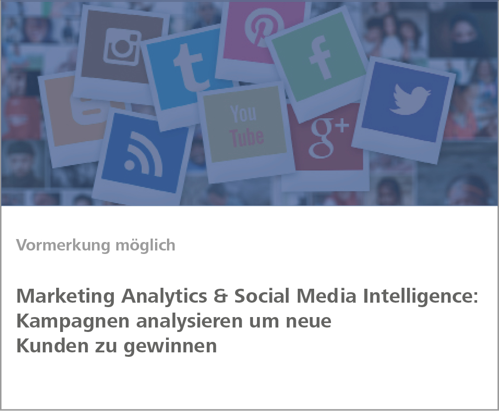 Weiterbildung Marketing Analytics