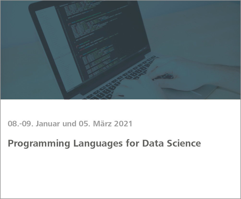 Weiterbildung Programming Languages for Data Science