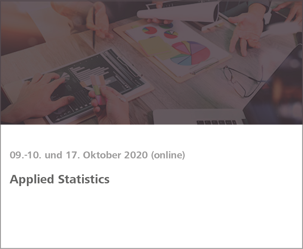 Weiterbildung Applied Statistics